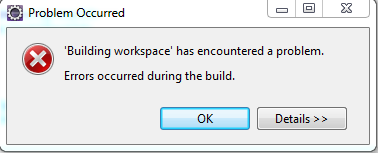 Error al cargar workspace