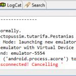 Error Android – El emulador se desconecta y no lanza la aplicación
