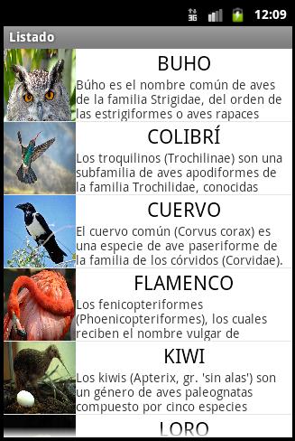 Ejemplo de listado final - www.jarroba.com