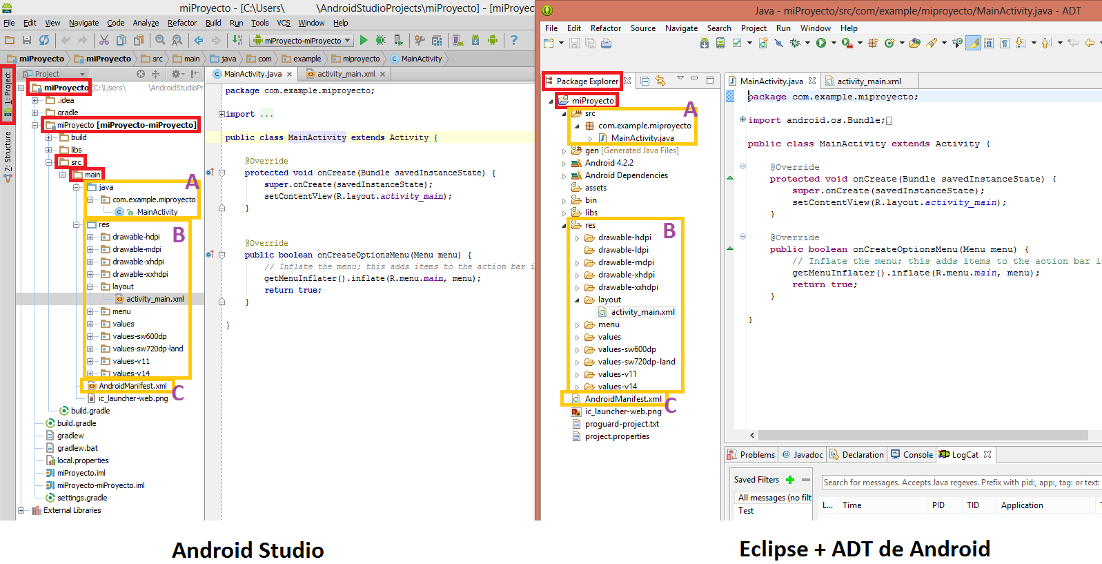 Comparacion Android Studio vs Eclipse + ADT de Android - www.jarroba.com