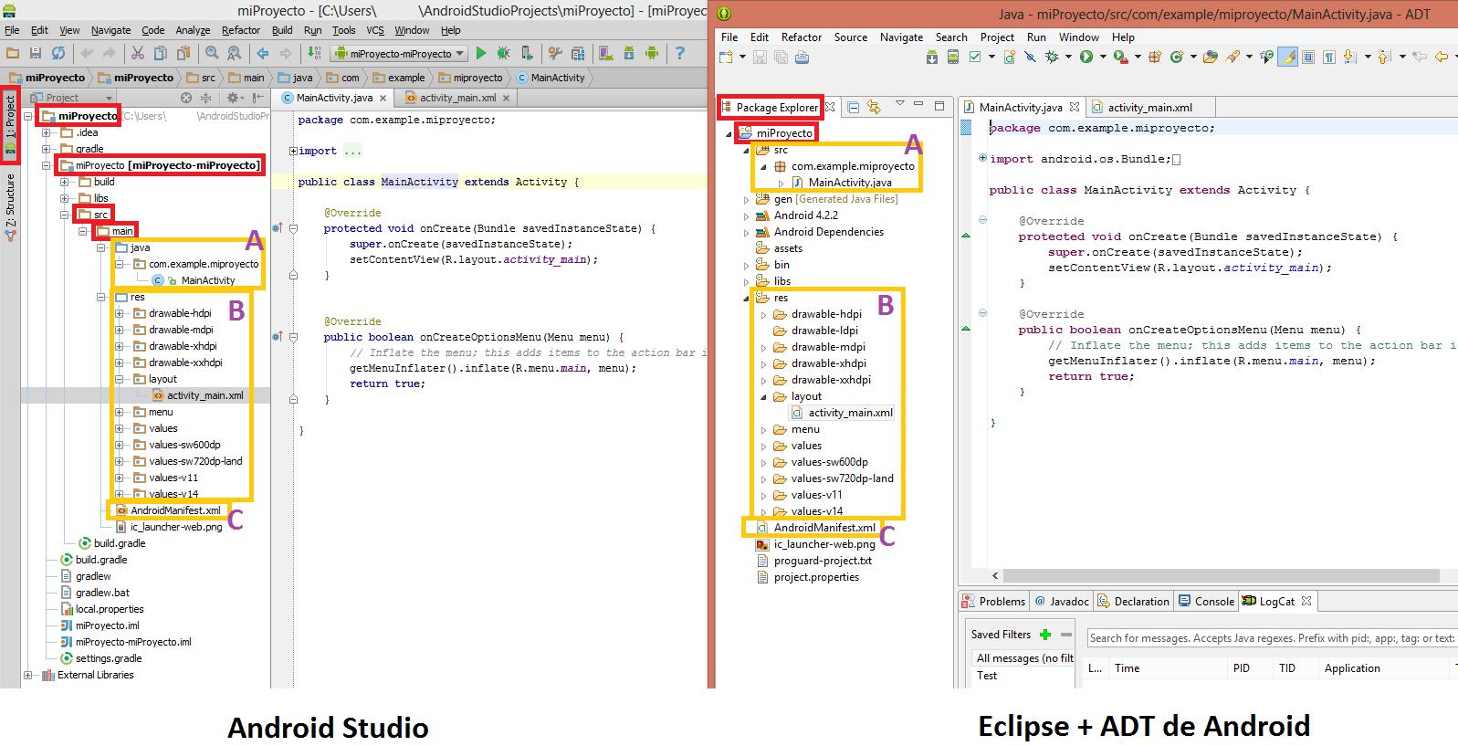 Comparacion Android Studio vs Eclipse + ADT de Android - www.jarroba.com