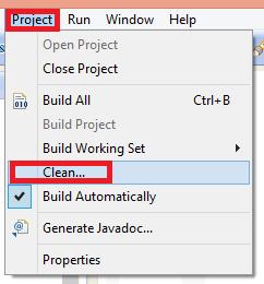 Para Android en Eclipse hacer un Clean del proyecto 1 - www.jarroba.com