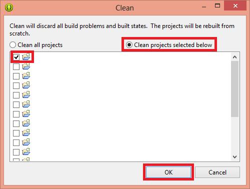 Para Android en Eclipse hacer un Clean del proyecto 2 - www.jarroba.com