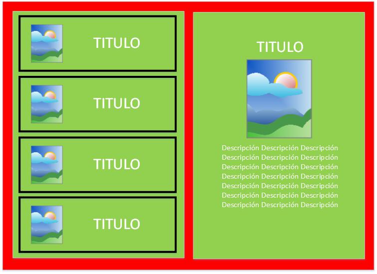 Diseño tablet Fragments Android - www.Jarroba.com
