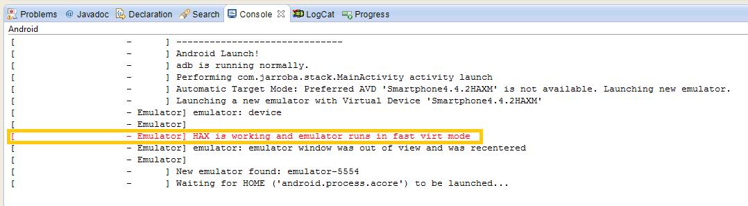 Arrancar 3 Android emulador Intel HAWX - www.jarroba.com
