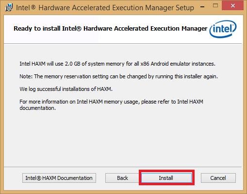 Instalador 3 Android emulador Intel HAWX