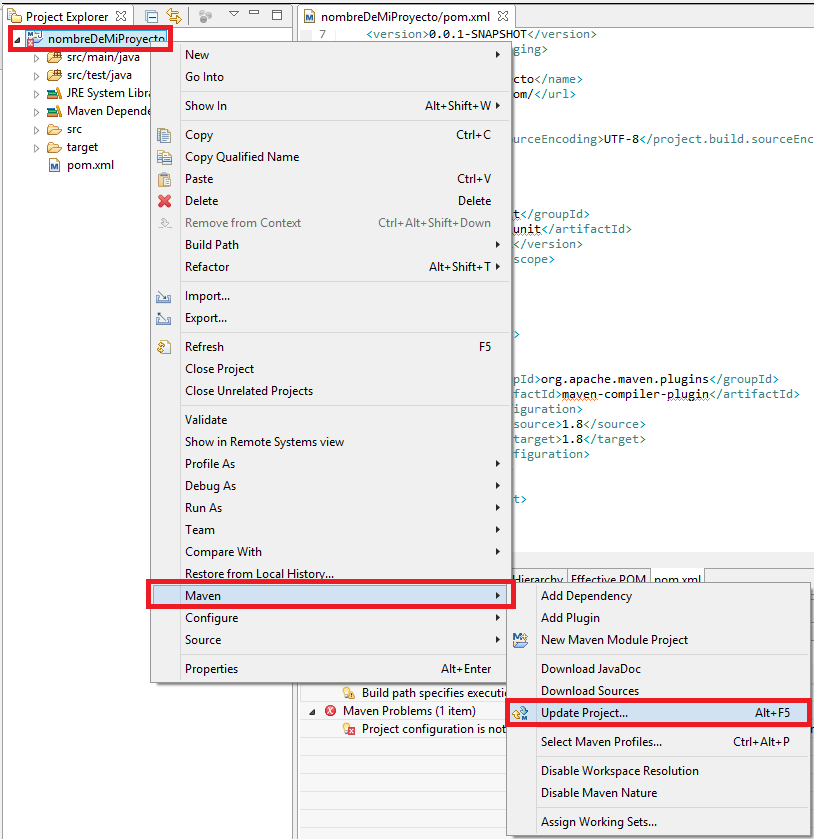 4 Error Maven en Eclipse Build path specifies execution environment... - www.jarroba.com