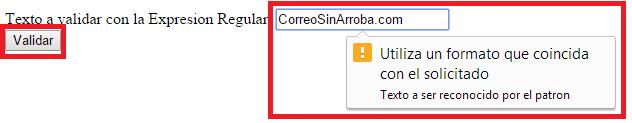 Ejemplo de expresiones regulares en HTML, validacion de formularios HTML - www.jarroba.com