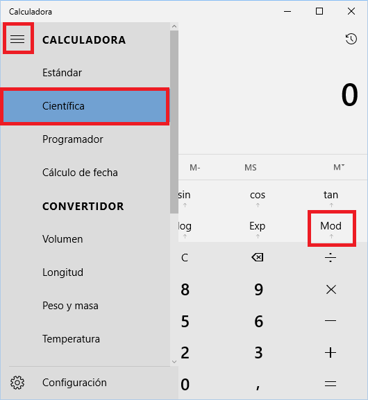 Calculadora Windows Modulo- www.jarroba.com