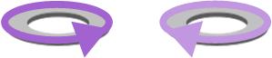 Dirección del campo magnético en toroides hacia un lado y hacia el otro
